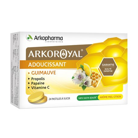 Arkopharma ARKOROYAL propolis PAPAIN VITAMIN C MARSHMALLOW SUGAR HONEY / LEMON 24