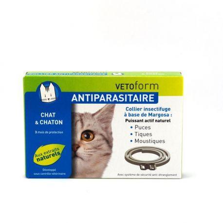 VETOFORM ANTIPARASITAIRE COLLIER CHAT ET CHATON 35 CM