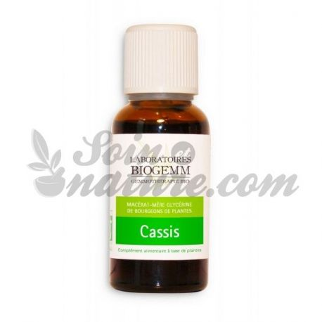 MACERATED BUD CASSIS BIO 30ML gemmotherapy BIOGEMM
