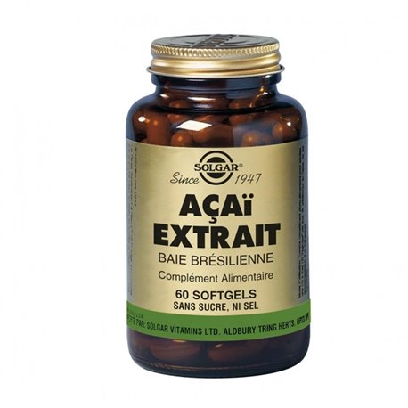 SOLGAR Acai Extract Softgels Brazilian Bay Box of 60