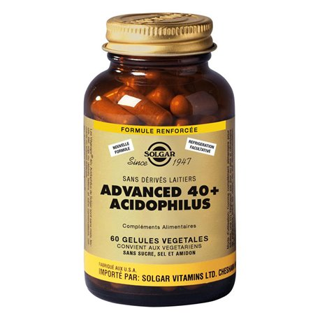 SOLGAR Advanced 40 Plus Acidophilus Pillulier 60 Gellules