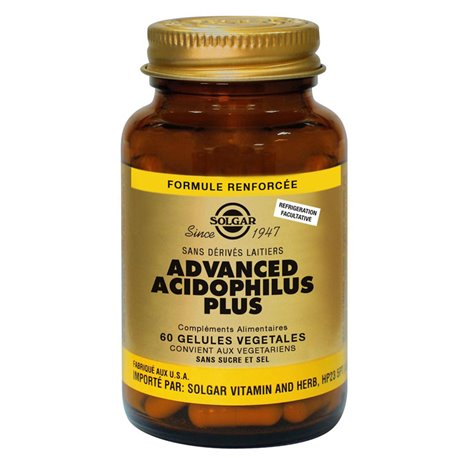 SOLGAR Advanced Acidophilus Plus 60 Vegetable Capsules