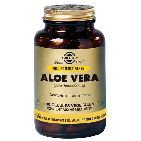 SOLGAR Aloe Vera 100 Vegetable Capsules