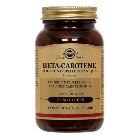 Cuadro 7 mg Solgar Beta-Caroteno de 60 cápsulas