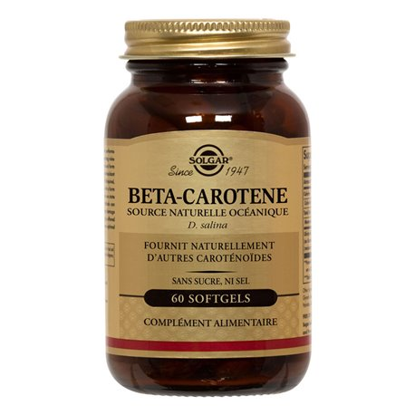 Solgar Beta-Carotene 7mg box of 60 capsules