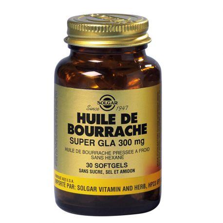 SOLGAR borraja GLA 300 mg de Super cápsulas blandas GM Caja de 60