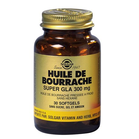 SOLGAR Huile de Bourrache Super GLA 300 mg Softgels GM Boite de 60