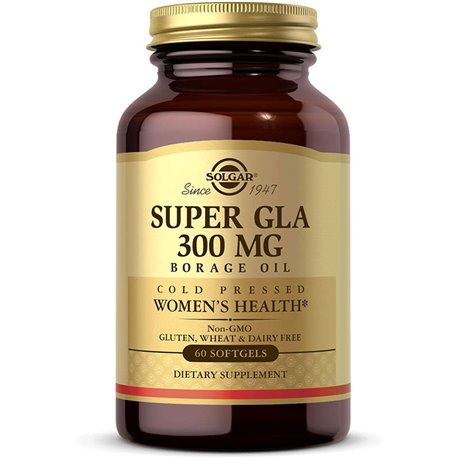 SOLGAR borraja GLA 300 mg de Super cápsulas blandas GM Caja de 30