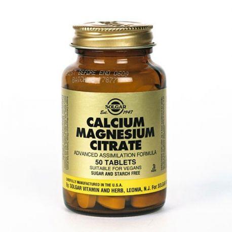 El calcio citrato de magnesio SOLGAR 50 Tabletas