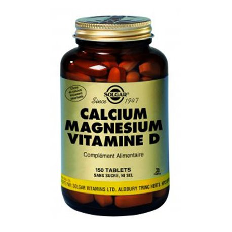 Calcio Magnesio Vitamina D SOLGAR Box 150