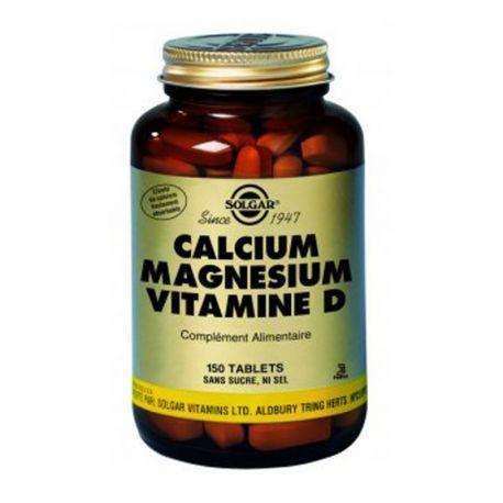 SOLGAR vitamina D Cálcio Magnésio Box de 150