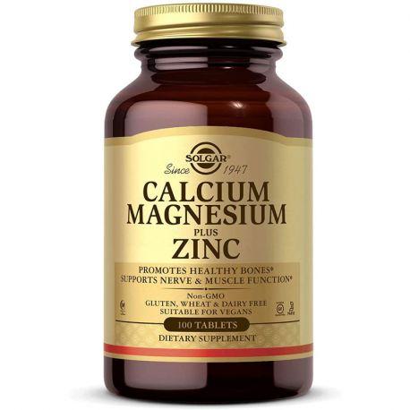 SOLGAR Cálcio Magnésio Zinco 100 Comprimidos