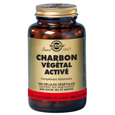 SOLGAR Charbon Végétal Activé Gélules végétales Boite de 100