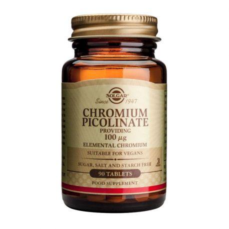 Solgar Chroompicolinaat 100 microgram Tabletten Doos van 90