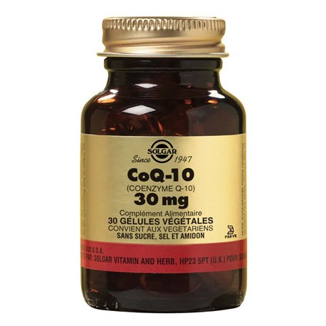 SOLGAR Coenzym Q10 Coenzym Q10 30 mg Kapseln Gemüse Box von 30 Uhr
