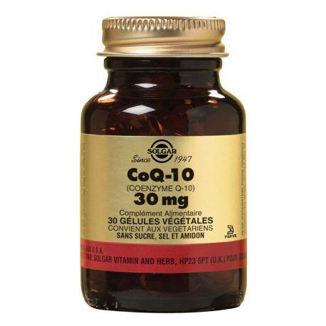 SOLGAR CoQ10 Coenzima Q10 30mg cápsulas vegetais PM Box, de 30 de
