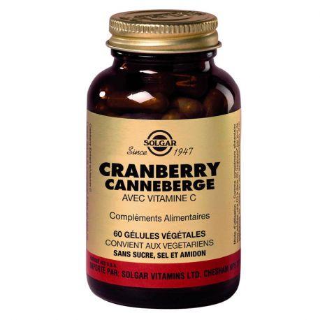 SOLGAR Cranberry (Canneberge) 60 Gélules Végétales