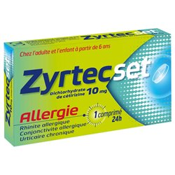 ZYRTEC SET ALLERGIE RHINITE ALLERGIQUE 7 CPS