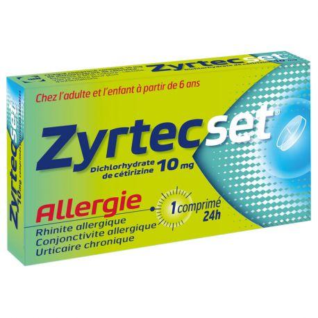 ZYRTEC SET ALLERGIE RHINITE ALLERGIQUE 7 CPS