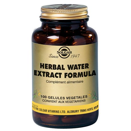 SOLGAR Herbal Water Extracto Fórmula 100 Cápsulas vegetales
