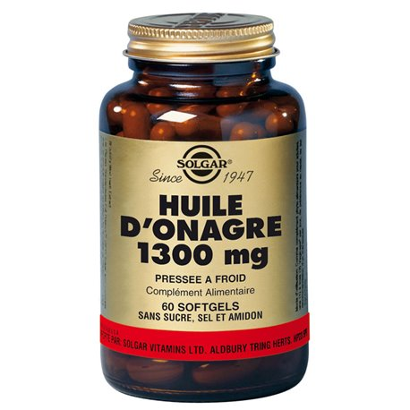 SOLGAR Huile d'Onagre 1300 mg 60 Softgels MG