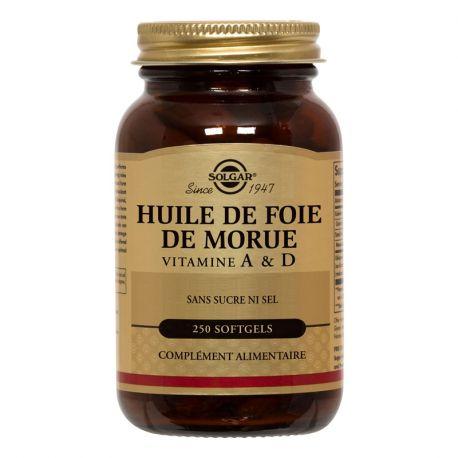 SOLGAR Aceite de hígado de 250 cápsulas blandas