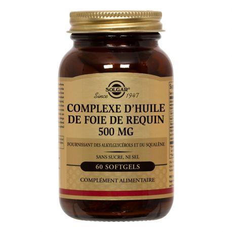 SOLGAR Oli de fetge de tauró 500 mg 60 càpsules toves
