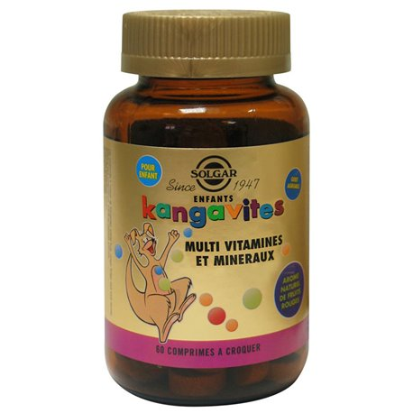 SOLGAR Kangavites Red Fruit Flavor Chewable 60 Plant PILLS