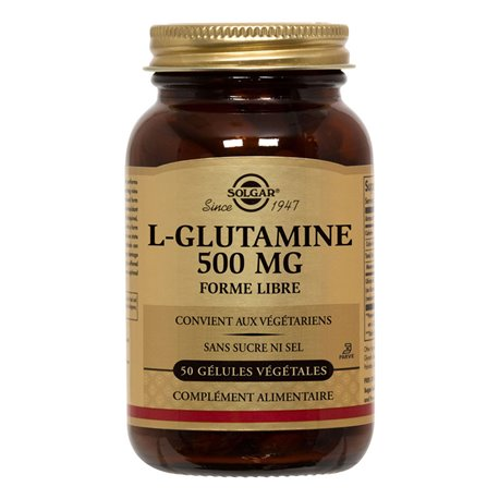 Solgar L-Glutamine 500 mg 50 Plantaardige Capsules