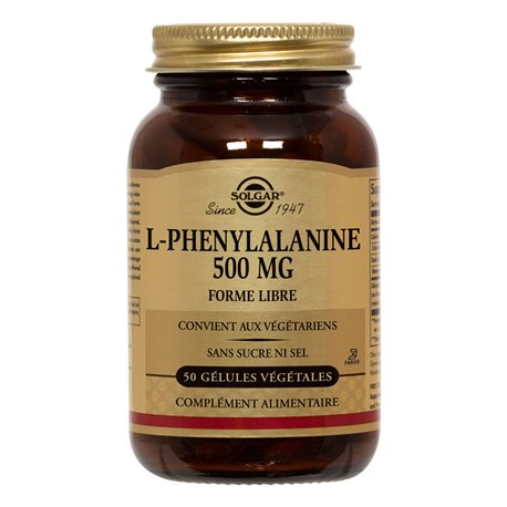 SOLGAR L-fenilalanina 500 mg 50 Cápsulas vegetales