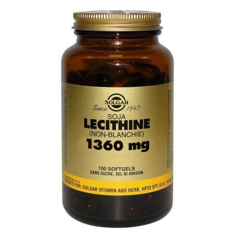 SOLGAR Lecitina de Soja (sin blanquear) 1360 mg 100 cápsulas blandas