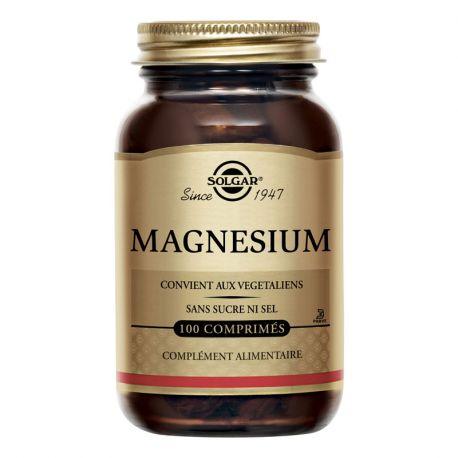 SOLGAR Magnésium Chelate aux acides aminés 100 Comprimés