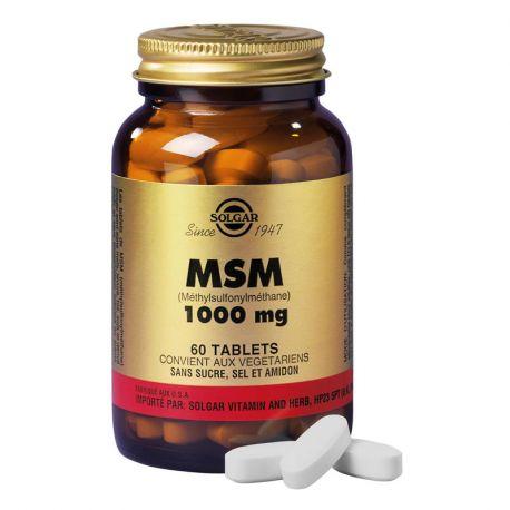 SOLGAR MSM 1000 mg 60 Comprimés