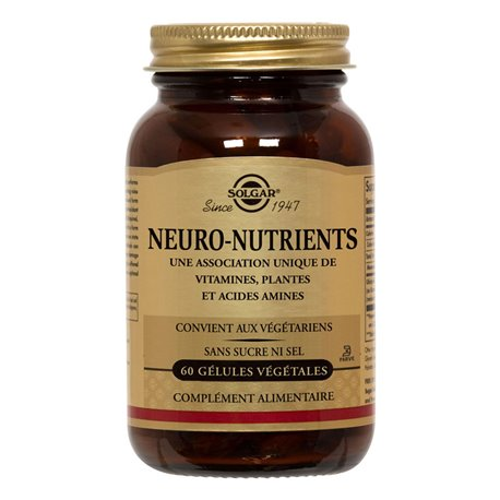 SOLGAR Neuro Nutrients GM 60 Vegetable Capsules