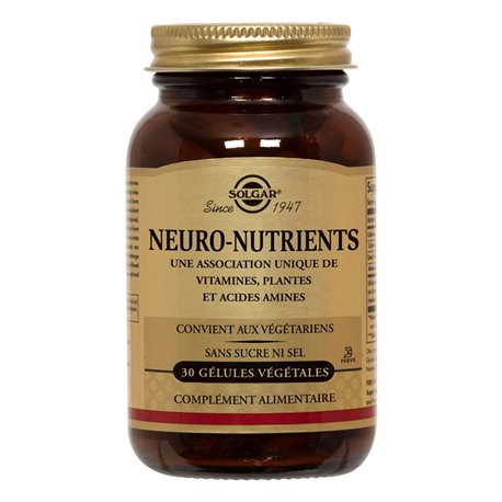 SOLGAR Neuro Nutrients PM 30 Càpsules vegetals