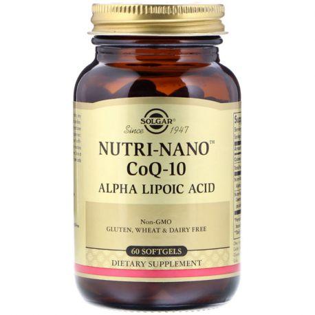 SOLGAR Nutrinano CoQ 10 50 Gélules Végétales
