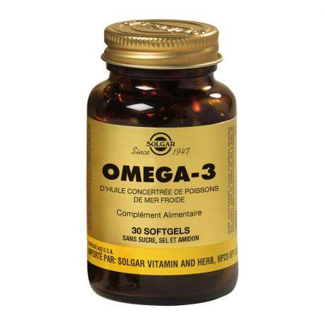 SOLGAR Omega 3700 mg 30 Kapseln