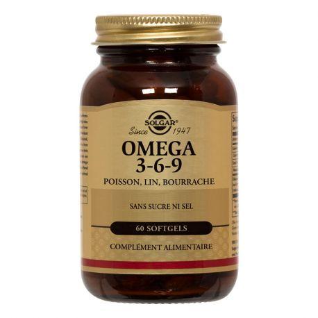 SOLGAR Omega 3-6-9 Fisch, Flachs, Borretsch 60 Kapseln