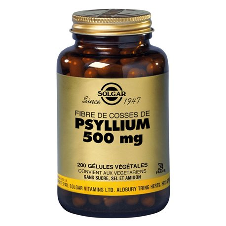 SOLGAR Fiber Psyllium Psyllium Husks 200 pflanzliche Kapseln