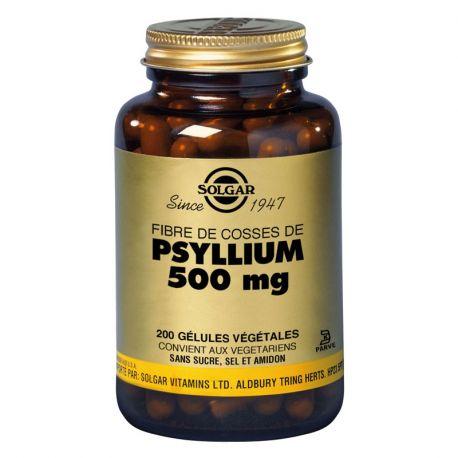 SOLGAR fibra psyllium cáscaras de psyllium 200 Cápsulas Vegetales