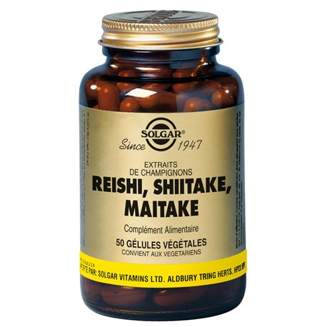 SOLGAR Reishi Shiitake, Maitake-50 Cápsulas