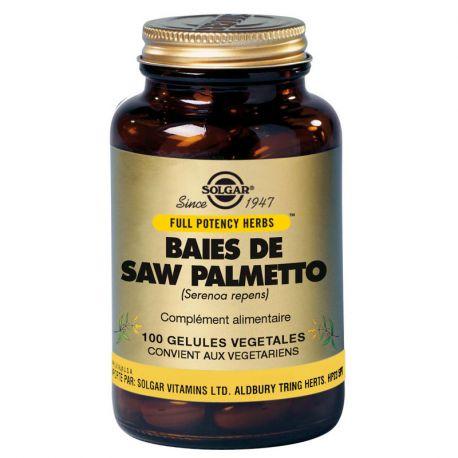 SOLGAR Bayas Saw Palmetto Serenoa repens 100 Cápsulas vegetales
