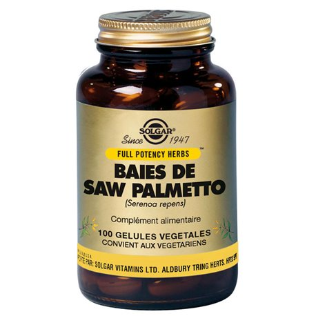 SOLGAR Berries Saw Palmetto Serenoa repens 100 Vegetable Capsules