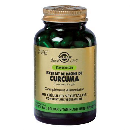SOLGAR SFP Extrait de Racines de Curcuma 60 Gélules Végétales