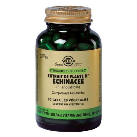 SOLGAR Extrait de Plantes Echinacée 60 Gélules Végétales