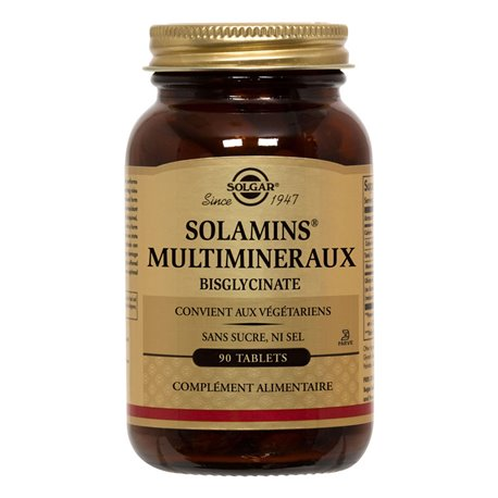 SOLGAR Solamins MultiMineral Chelated 90 Comprimidos