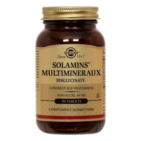 SOLGAR Solamins Multiminéraux Chélatés 90 Comprimés