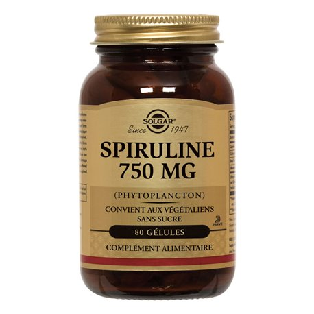 SOLGAR Spirulina Hawaii 750 mg Tablets Box of 100