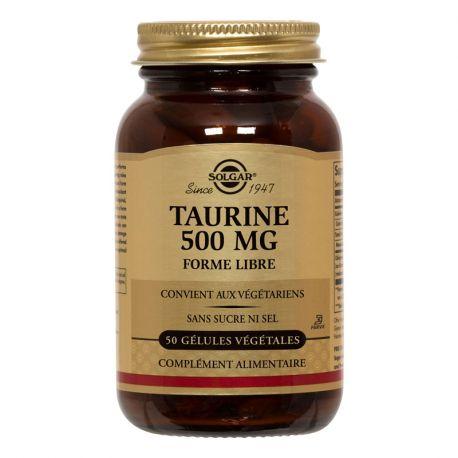 SOLGAR Taurina 500 mg Cápsulas Vegetable Box de 50