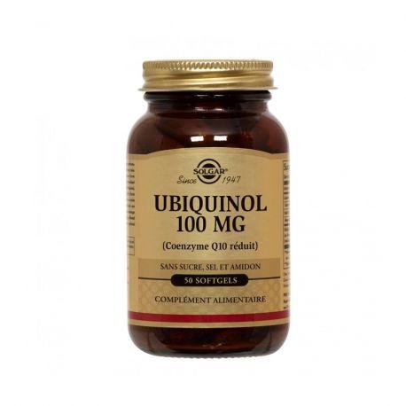Ubiquinol CoQ10 SOLGAR coenzima Q10 reduce 50 Tabletas
